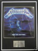 METALLICA -  Framed LP Cover - RIDE THE LIGHTNING
